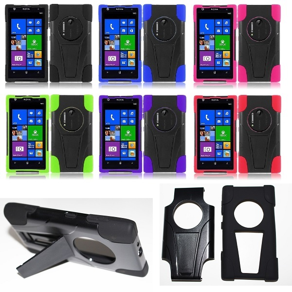 For nokia lumia 1020 accessories hybrid hard cell phone case soft