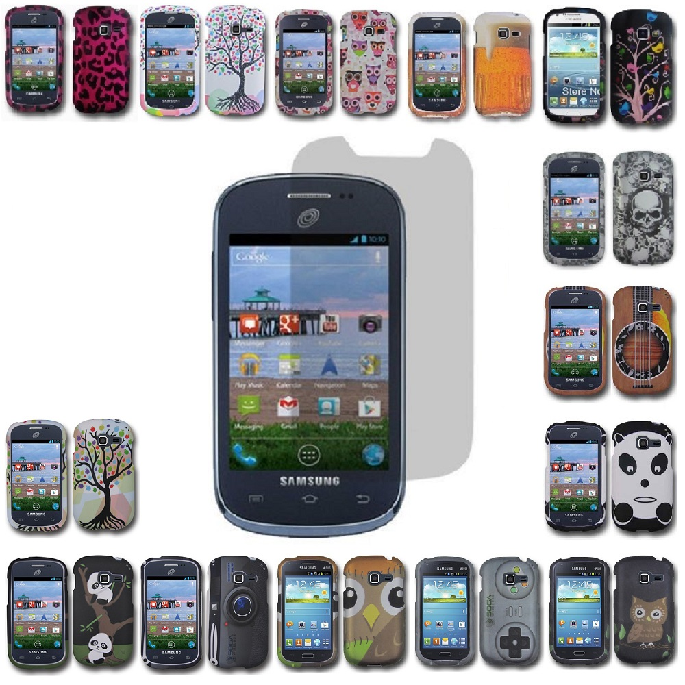 For Samsung Galaxy Centura Rubberized Design Hard Cover Case Screen