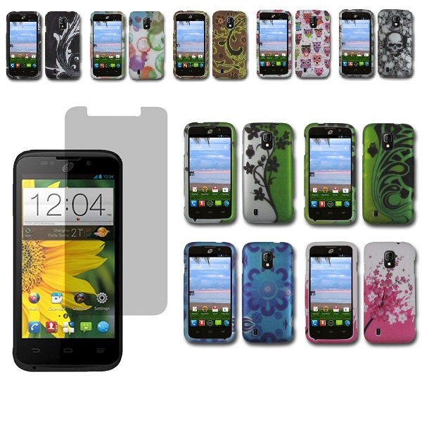 For ZTE Majesty / Source Rubberized Design Hard Cover Case+Screen
