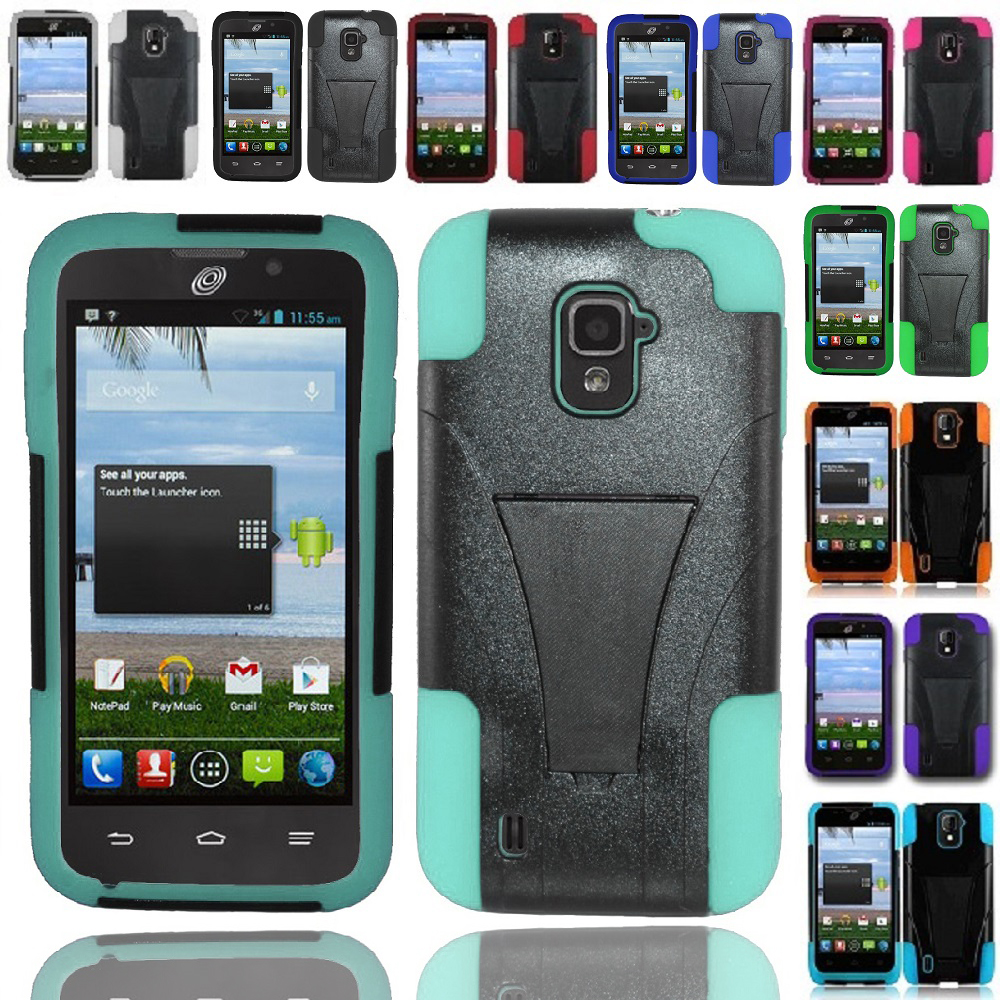 ZTE Majesty Z796C Source N9511 Hybrid Hard Cell Phone Case+Soft Cover