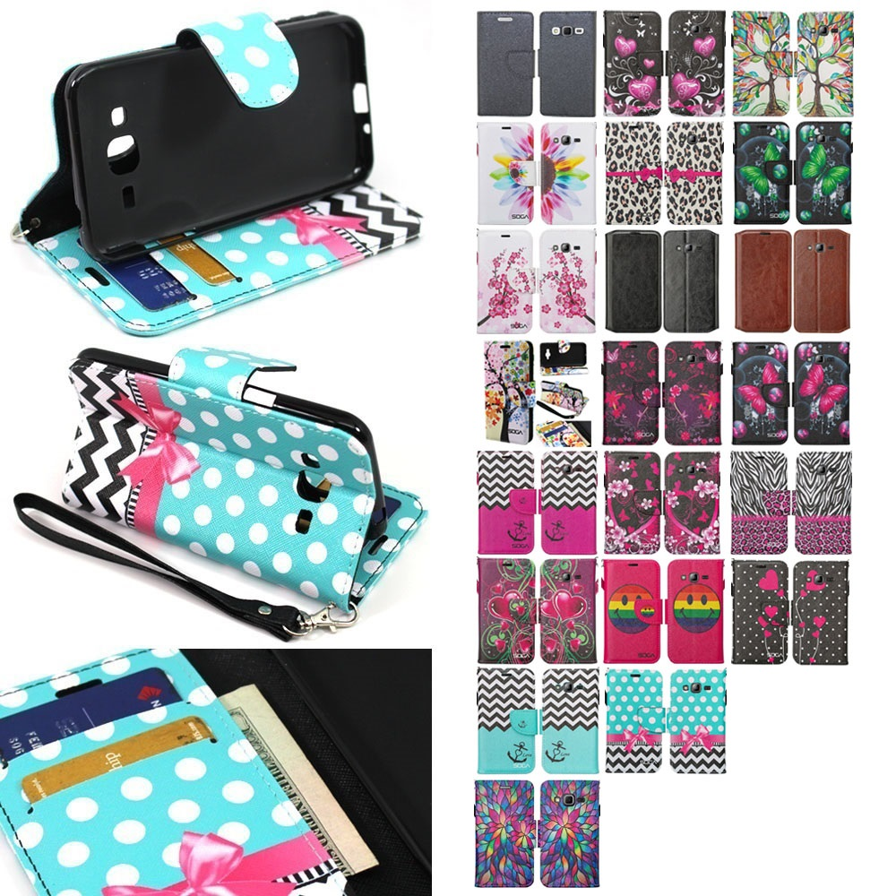 Details about For Samsung Galaxy J3 / J3 V / Sky / Sol PU Leather Wallet Pouch Case Flip Cover