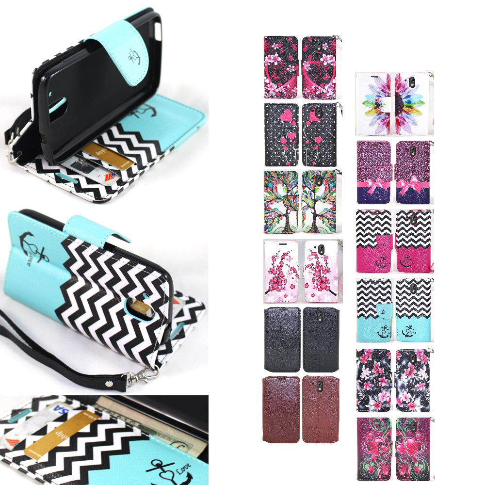 online store 2d73f 4e426 Details about For HTC Desire 526 Hybrid PU Leather Wallet Credit ID Card  Protective Case Cover